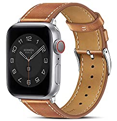 Apple Watch Reviews – Apple Watch Series 3 Review - Apple Watch Band, 42mm Marge Plus Genuine Leather iwatch Strap Replacement Band