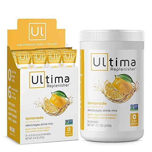 Ultima Replenisher Electrolyte Hydration Drink Mix, Lemonade, Home and...