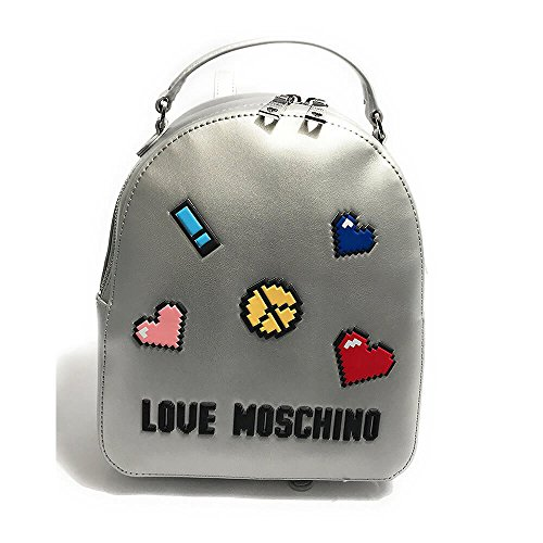 Love Moschino Pixel rugzak klein wit