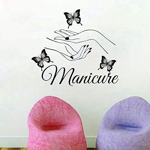 Vinyl muurstickers schoonheid nagel salon wanddecoratie verwijderbare vinyl nagel winkel raamdecoratie muurstickers