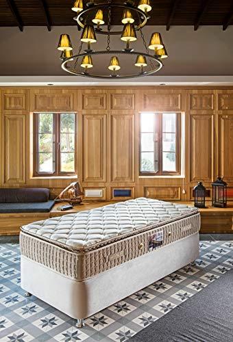 Reboz matras 90 x 200 cm Bonellvering 26 cm koudschuim bruin