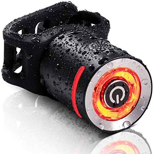 BrightRoad LED Rechargeable Bike Tail Light | Extremely noticeable Rear Flashlight for Maximum Visibility | Wide & Long Cover Range, 220° & 650ft | IPX5 Waterproof | Bicycle Back Lights for cycling
