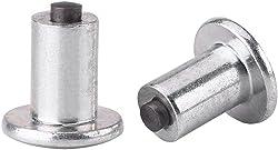 """100pcs 9mm/0.35"""" Tire Stud Screw, Keenso Anti-Slip Snow Tire Studs Wheel Tyre Tire"""