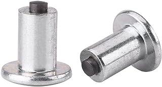"Cuque Car Tire Stud 100 Pcs 9mm / 0.35"" Universal Tire Bolt Screw Non-slip Tire Nails Snow Spikes Silver for Automobile Truck ATV"