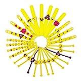 JZK 28 x Emoji Slap Pulsera Goma Banda emoticonos Pulsera Silicona para niños Adultos Fiesta favores niños cumpleaños...