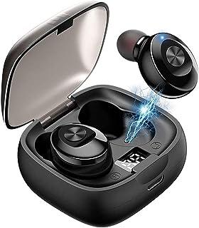 Versión actualizada en 2021,audifonos bluetooth, audifonos inalambricos,Auricular bluetooth inalámbrico, IPX8 a prueba de agua y función de reducción de ruido CVC8.0, mini auriculares deportivos con interfaz de micrófono, se pueden usar para correr, escuchar música, llamar, Ver el vídeo,(negro)