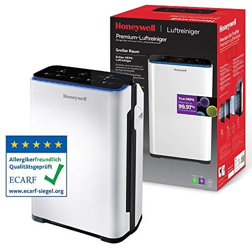 Purificador de aire Honeywell Premium (filtro True HEPA, sensor de alergias, de calidad del aire, CADR 204m3/h, filtrado de 4 etapas) HPA710WE ✅