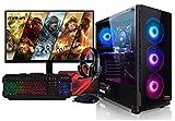 PC Ordenador de sobremesa Gaming Megamania Intel i7 10700F 4.8GHz Turbo Six Core | 16GB DDR4 | SSD 480GB | AMD Radeon RX550 4GB | Monitor 22' LED + Kit Gamer