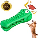 ADDOIL Crocodile Squeaky Chew Toy Heavyweight Durable Rubber Dental Interactive Pets Training Toy for Medium Large Dogs