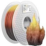 AMOLEN PLA Filamento Impresora 3D 1.75mm, Cambio de Tres Colores con Temperatura, Negro a...