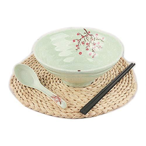 Cuencos de arroz chinos con palillos y una cuchara para Udon fideos Cuisine Bowl 3 piezas