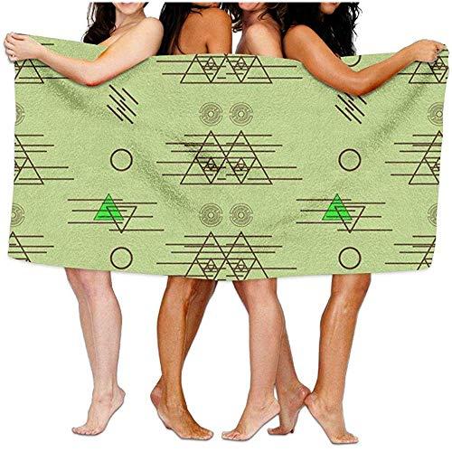 Edmun Mujeres 'con Envoltura de Toalla de baño triángulos y círculos Ilustración Waffle SPA Beach Towel Wrap para Mujer