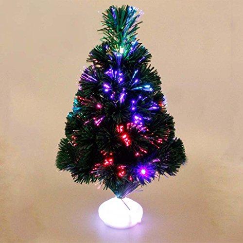 45 cm albero di Natale principale albero di natale artificiale fibra ottica albero di Natale albero azionato con colore cambiando leggero cespuglio xmax da yunhigh - multi colorato