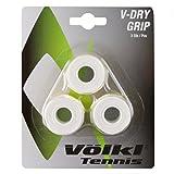 Völkl Overgrip Dry-Grip 3er - Mango de Raqueta de Tenis, Color Blanco,...