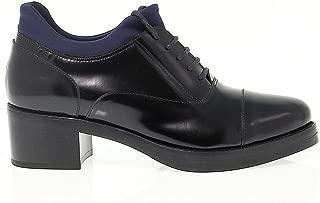 GUIDO SGARIGLIA Luxury Fashion Womens SGA35122 Blue/Black Lace-Up Shoes   Season Permanent