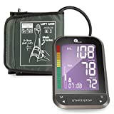 1byone Upper Arm Blood Pressure Monitor with Wide-Range Cuff, Large Backlit LCD, Memories