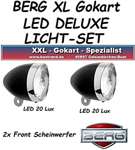Gokart KURVENLICHT LED Scheinwerfer Licht Set 2x f. BERG Gokart