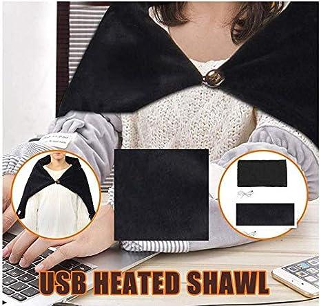 Black 3 Speed Regulating Switch 34X22 H-Hour USB Heated Shawl Warm Electric Throws Flannel Blanket Heating Cushion Pad Blanket