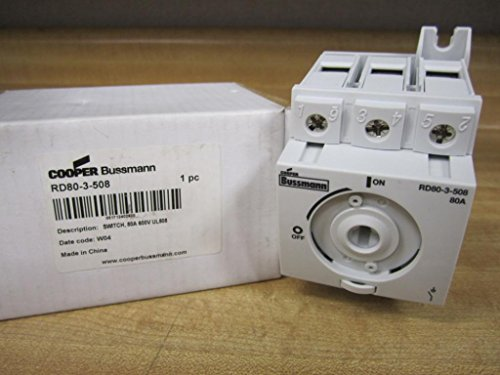 Cooper Bussmann AGX-3/10 Fuse RD80-3-508 Switch, 80 Amp, Non-F 3P UL508