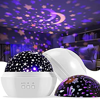 Night Light for Kids,Delicacy 2 in 1 Star Projector & Ocean Undersea Lamp 360° Rotating 8 Colors Mode LED Night Lights Projector for Kids Baby Bedroom Decoration
