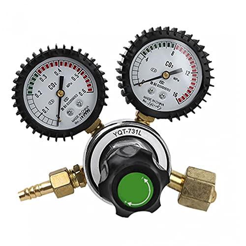 Reductor de presión de soldadura de dióxido de gases de carbono de CO2 con medidor de presión gemela Herramienta de calidad duradera para industrial