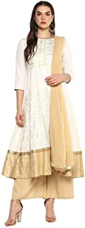 STOP by Shoppers Stop Womens Round Neck Printed Palazzo Suit