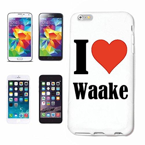 Bandenmarkt telefoonhoes compatibel met Samsung Galaxy S6 Edge I Love Waake Hardcase beschermhoes mobiele telefoon cover Smart Cover
