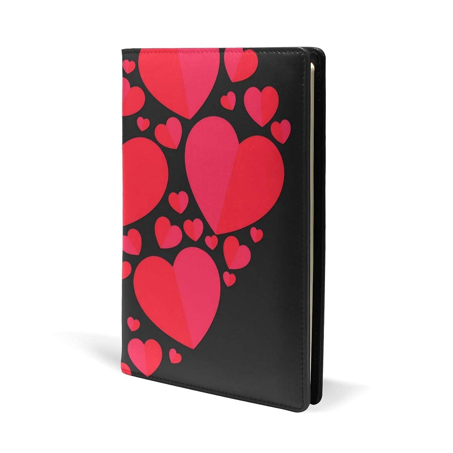 追加圧縮されたパンサーブックカバー a5 こころ 赤い きれい 文庫 PUレザー ファイル オフィス用品 読書 文庫判 資料 日記 収納入れ 高級感 耐久性 雑貨 プレゼント 機能性 耐久性 軽量