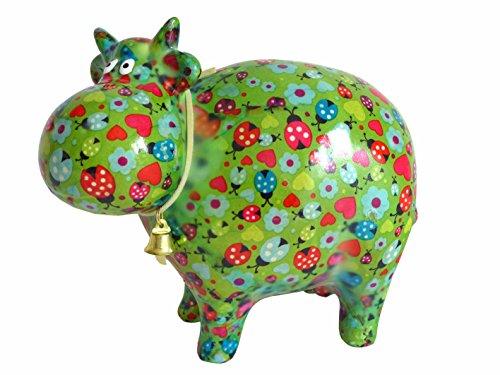 Pomme Pidou Süße Spardose ~ Kuh C grün mit Käfern Sparbüchse Geschenk