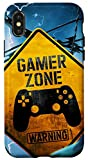 iPhone X/XS Video-Gamer-Zone Funny-Warning-Sign Phone Case For Men Women Case