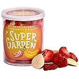 Supergarden plátano y fresa liofilizados - Snack saludable - Producto 100% puro y natural - Apto para veganos - Sin azúcares, aditivos artificiales ni conservantes añadidos - Sin gluten - No OMG