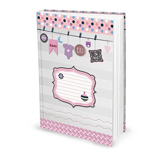 Babybuch für Mädchen (Hardcover, A4, Blankoseiten): Zum Festhalten der ersten Lebensjahre
