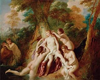 The High Quality Polyster Canvas Of Oil Painting 'Diana And Her Nymphs Bathing , 1722 - 1724 By Jean-Franois De Troy' ,size: 16x20 Inch / 41x51 Cm ,this High Resolution Art Decorative Canvas Prints Is Fit For Foyer Gallery Art And Home Gallery Art And Gifts