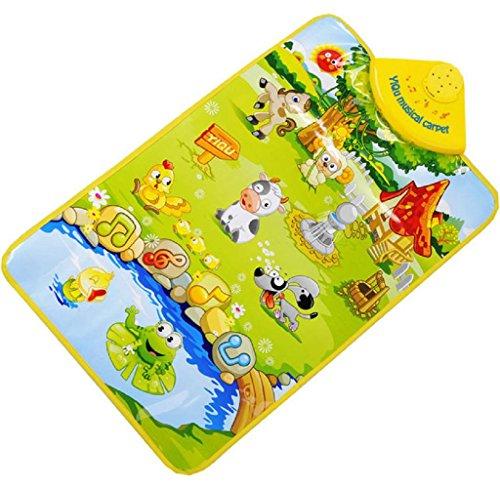 Maolanku La fattoria Suoni animali musicale touch Giocare Palestra Musica Tappeto Mat giocattolo