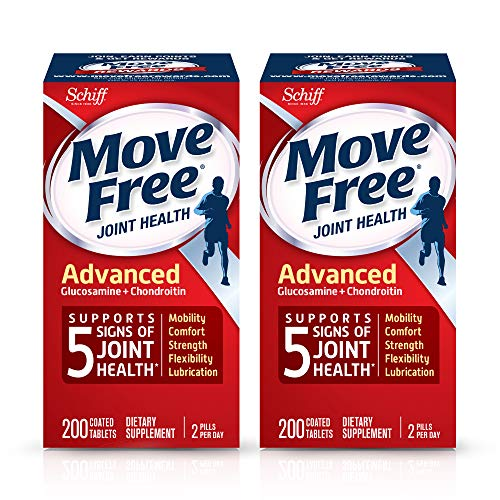 Move Free Advanced, Tablets (200 Count Box) - Joint Health Supplement with Glucosamine and...