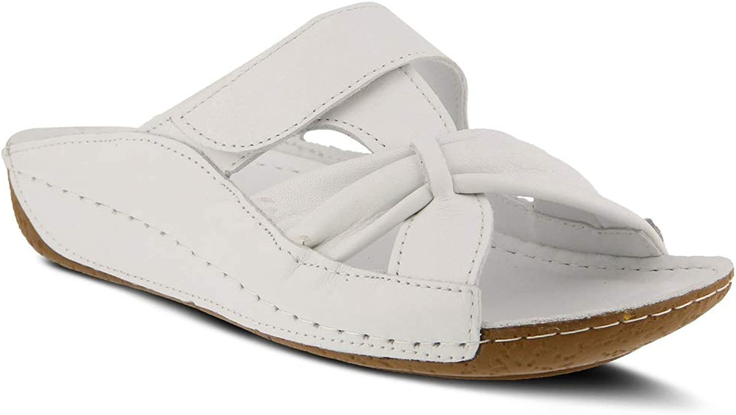 Spring Step Women's Gretta Sandals   color White   Leather Sandals