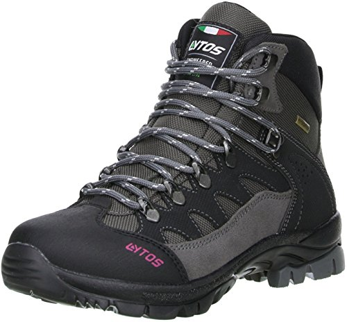 LYTOS Damen Wanderschuhe Bergschuhe grau/schwarz, Größe:39, Farbe:Grau