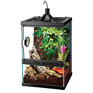 Zilla Tropical Reptile Vertical Starter Kit with Mini Halogen Lighting