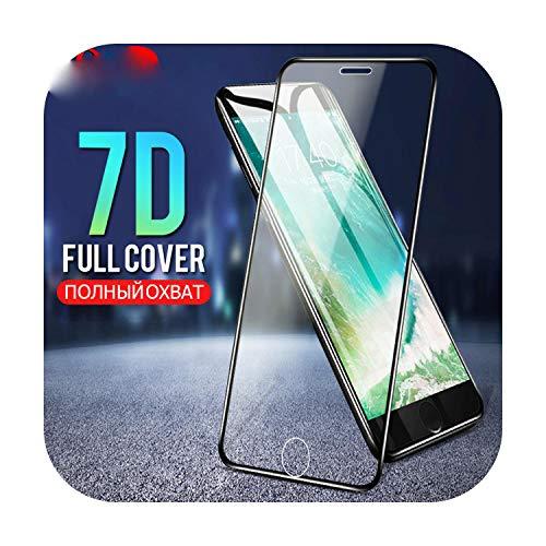 7D vidrio templado en el para iPhone 6 6s Plus 7 8 protector de pantalla completa cubierta protectora de vidrio para iPhone 8 7 Plus 6 6s Película-Para iPhone 7-Negro