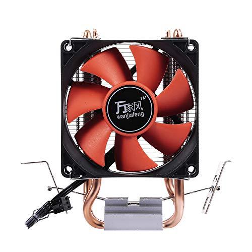 Hidráulico, Entweg CPU Ventilador de disipador de Calor hidráulico Heatpipe Silent Two-Pipe Cooler para Intel/AMD
