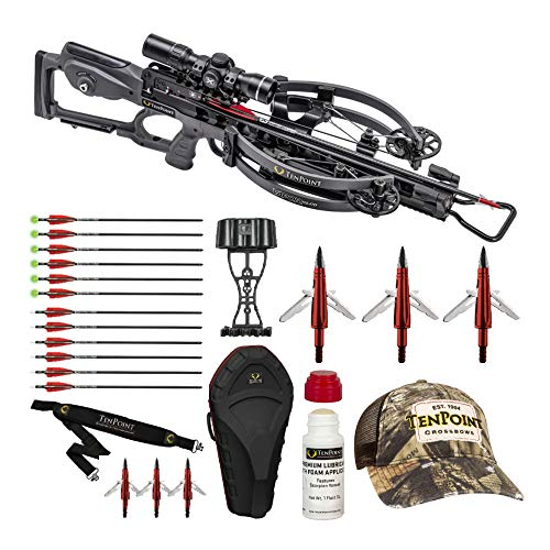TenPoint RS470 Graphite Elite Package with Broadheads and Lube Bundle (4 Items)