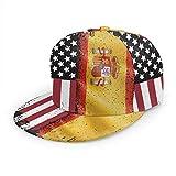Snapback Hat España Bandera Americana Gorra De Papá Impresión Gorra De Béisbol Adulto Bastante Retro Gorra De Camionero Gorros De Hip Hop Ligeros Únicos Clásico Flat Bill Unisex Ve