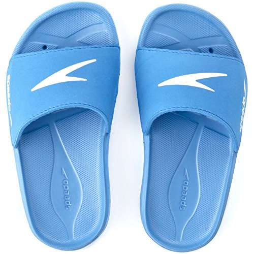 Speedo Atami Core Slide (Box) 8073993082, Jungen Sandalen/Bade-Sandalen, Blau (Blue/White), EU 34.5