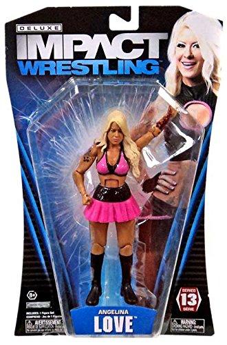Jakks Pacific TNA Wrestling Deluxe Impact Series 13 Angelina Love Action Figure