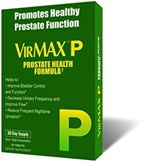 VirMAX P Prostate Health Formula, Supports Bladder & Urinary Health, 30 Capsules 30 Capsules (Pack of 3)