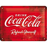 Nostalgic-Art Plaque en Metal - Coca Cola - Drink - Refresh Yourself