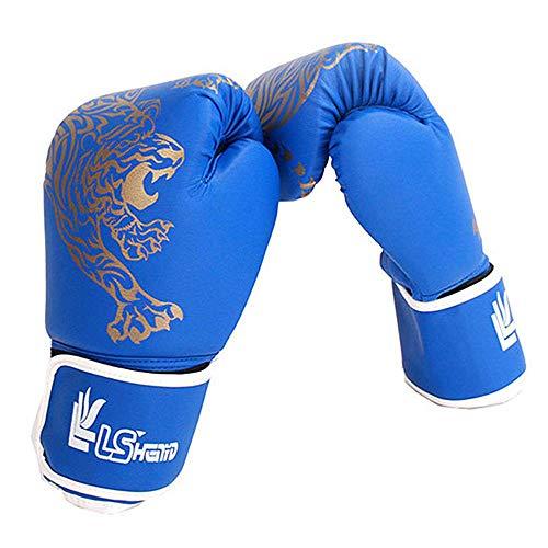 YJJ 1Pair Kinder Boxhandschuhe, Kickboxen Sparring Training Handschuhe Boxsack Muay Thai Mitts Für Kinder, Jugendliche,Blau