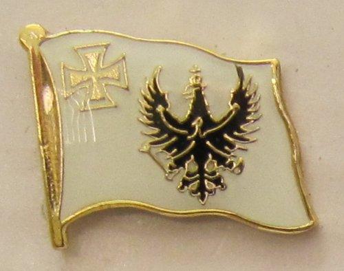 Buddel-Bini Versand Pin Anstecker Flagge Fahne Preussen mit eisernem Kreuz eisernes Flaggenpin Badge Button Flaggen Clip Anstecknadel