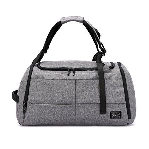 Valleycomfy Sport Bag Gym Sacs Grande capacité avec des Chaussures de Poche Main/épaule/Cross-Body Bag Fitness Bagages Bagages Mot de Passe Anti-vol (Gris amélioré)