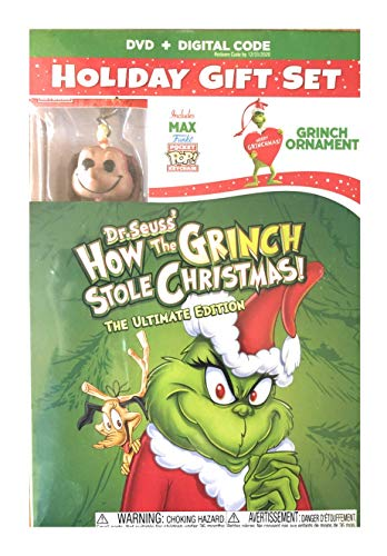 How The Grinch Stole Christmas! ULTIMATE EDITION (DVD + DIGITAL + Funko Pop! Keychain + Ornament) LIMITED EDITION WALMART EXCLUSIVE